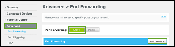 General FAQs: SBG8300: Port Forwarding Setup