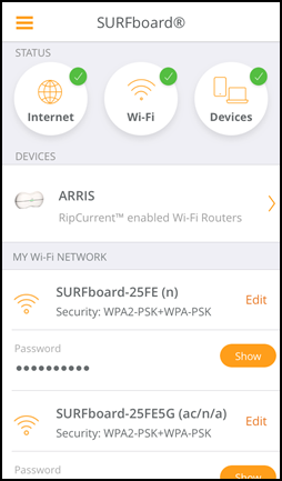 General FAQs: SURFboard Manager v4 1 x (iOS): Connection Setup