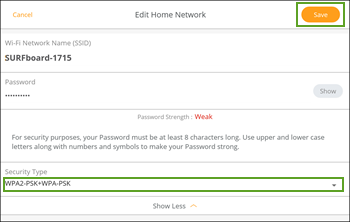 General FAQs: SURFboard Manager (Android): Custom Wi-Fi Settings