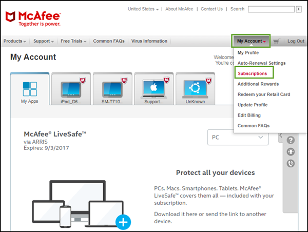 General FAQs: McAfee® SHI: Subscription Status